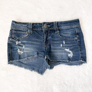 L.E.I Ashley Lowrise Stretch Denim Shorts 5 Junior
